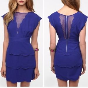 Urban Outfitters Dresses - Cooperative blue scallop dress